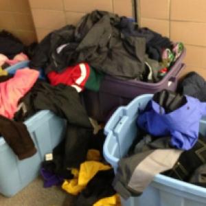 Glemt tøj i institutionen